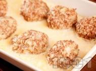 Рецепта Свински кюфтета с ориз в бял сос
